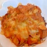 厚揚げと白菜のチーズ焼き