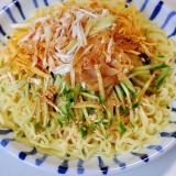 正麺をアレンジ*バンバンジー(棒棒鶏)冷し中華*
