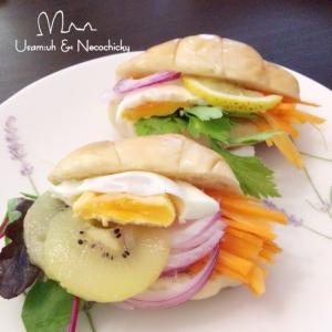 メガ盛り☆ロールパン・サンドイッチ