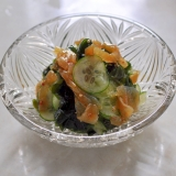 中華クラゲとわかめときゅうりの酢の物