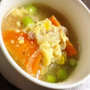 ふわふわ卵のブイヨンスープ