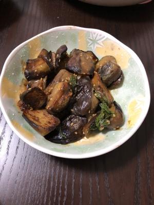 茄子のシソ味噌炒め