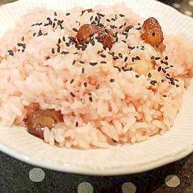 炊飯器で作る☆北海道のお赤飯
