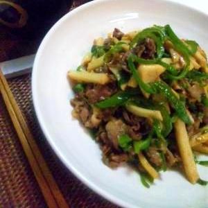定番◎牛肉とピーマンと筍の中華炒め ~青椒肉絲~