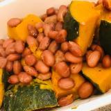 冷凍かぼちゃといんげん豆の甘煮