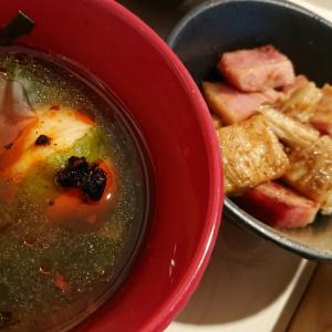 魚団子のラー油スープ