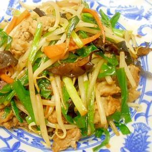 簡単☆豚肉・野菜・きくらげの大蒜醤油炒め物