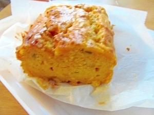 蒸しケーキのようなカボチャのケーキ