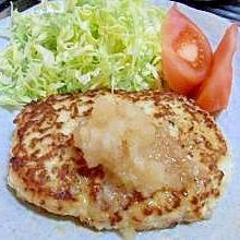 低カロリー☆鶏ミンチと豆腐でヘルシーハンバーグ