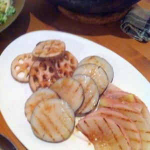 赤大根と黒大根のステーキ