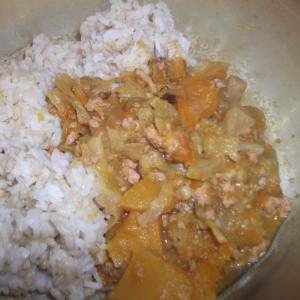 かぼちゃとひき肉の簡単カレー