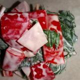 ツルムラサキとパプリカのサラダ