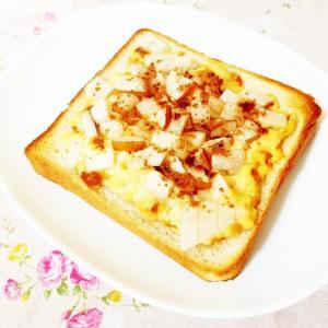シナモン風味♪梨&プリントースト
