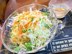 キャベツ盛り盛りサラダ☆七味醤油マヨネーズ