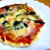 ナン生地でピザ★薄力粉使用 醗酵不要の簡単レシピ