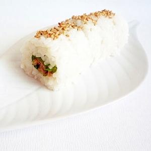 ツナとガリの大葉巻き寿司