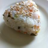和歌山‼しらすと白菜の漬物おむすび♫