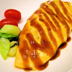 お好み食材で!肉野菜炒めオムレツ