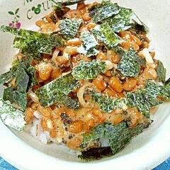 納豆の食べ方-ミョウガ&しその実漬け♪