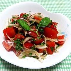 簡単♪本格!トマトとオニオンのイタリアンサラダ