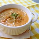 レンズ豆とハムのカレースープ