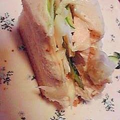 塩鶏のサンドイッチ