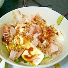 切るだけ(/・ω・)/☆長芋と豆腐の和風サラダ