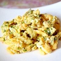 塩麹と 青のりの炒り卵