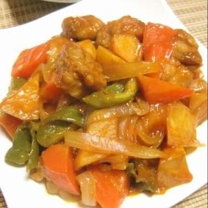 ヘルシー簡単☆柿で美味しい酢鶏♪