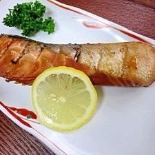 秋サケを美味しく調理♪ 「韓国風しょう油漬け」