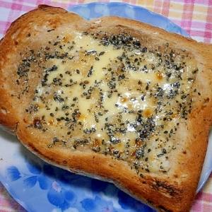 黒ごま・はちみつ・チーズトースト