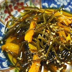 金針菜昆布の山椒酢の物