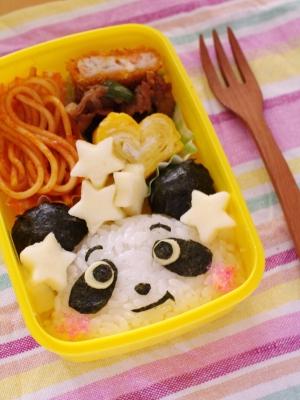 パンダおにぎりの簡単キャラ弁当