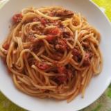 スパゲットーニ☆牛とトマトの本格ミートソース