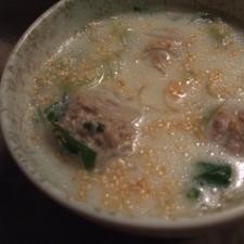肉団子と春雨のボリュームスープ