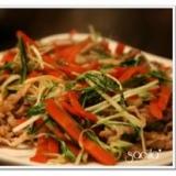 豚肉と水菜とえのきの炒め物