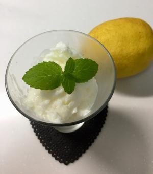 お家で作る  簡単レモンシャーベット