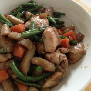 鶏胸肉の炒め物