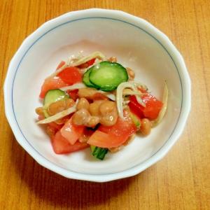 しらす納豆の彩りサラダ