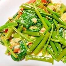 卵と空心菜の炒め物