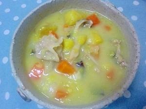圧力鍋でさつま芋の甘いシチュー★
