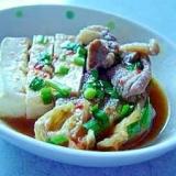 白菜の旨辛肉豆腐