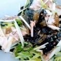子供が喜ぶ(^^)サバ水煮缶と豆苗の味噌サラダ♪