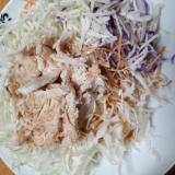 キャベツと人参と鶏むねサラダ