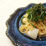 イカと大葉のたらこスパゲッティ