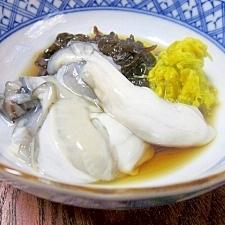 純白のサロマ湖産☆ 「牡蠣酢 菊花水雲添え」