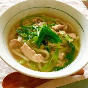 風邪の時に!優しいお味の葱むね肉の煮込みうどん♡