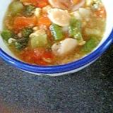 ニンニク&卵の野菜入りスープ