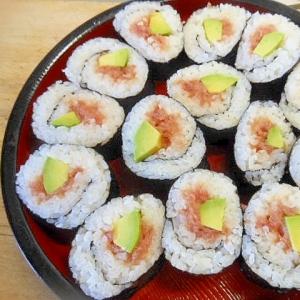 アボガドとマグロの巻寿司
