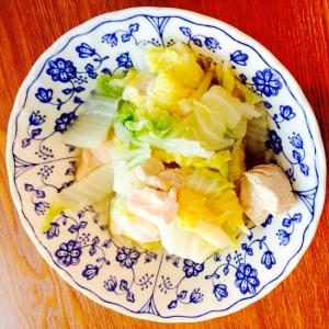 材料コレだけ!胸肉と白菜の中華煮